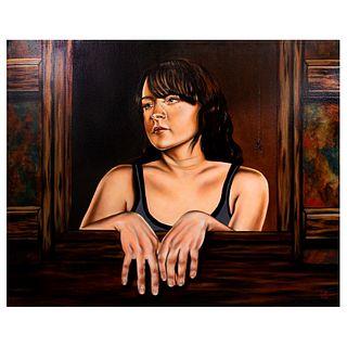 Edgar Miranda. Una tarde en el Marrakesh. Firmado. Óleo sobre tela. Sin enmarcar. 80 x 100 cm