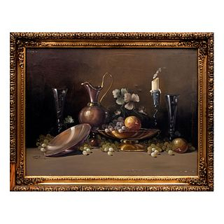 Fontana. Bodegón. Firmado. Óleo sobre tela. Enmarcada. 58 x 78 cm.