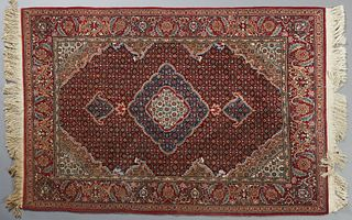 Oriental Silk Carpet, 4' 3 x 6' 3. Provenance: from a collection of an antiquarian, Amite, Louisiana.