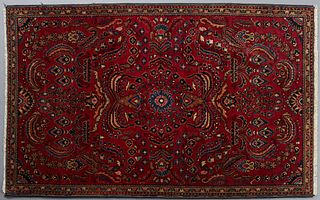 Oriental Carpet, 3' 6 x 5' 7. Provenance: from a collection of an antiquarian, Amite, Louisiana.