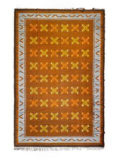Modernist Mid 20th Century Flat Weave Rug