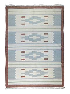 Modernist  Mid 20th Century Flatweave Rug