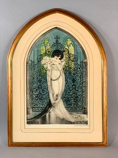 "Louis Icart Etching ""Tosca"""