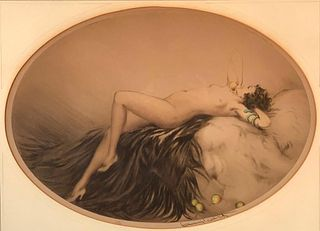 "Louis Icart Etching ""Eve"""