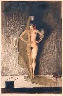 "Louis Icart Etching, ""Conchita"""
