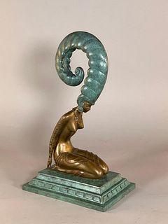 """Erte Bronze """" La Plume"""""""
