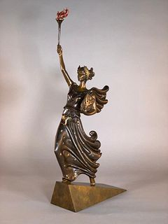 "Erte Bronze, ""Liberty, Fearless and Free"""