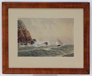 Frederic Cozzens Coastal Maritime WC Painting