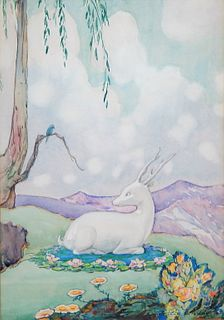 Nelly Littlehale Murphy The Magic Mar WC Painting