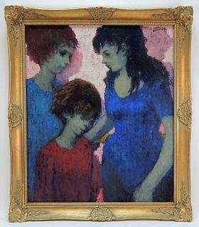 Louis Burnett Impressionist Figure Painting