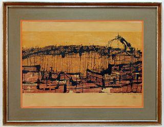Sydney Hurwitz Semi Abstract Skyline Print