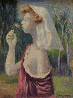 Fletcher Martin Young Maiden Portrait Painting