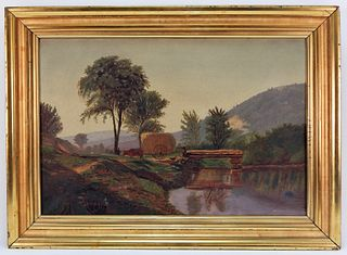 American School Impressionist Landscape Painting