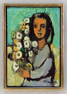 Frank Kleinholz Expressionist Portrait Painting
