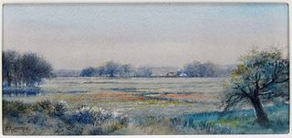 Charles Russell Loomis Landscape WC Painting