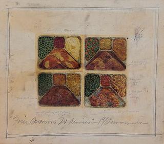 Roger Shimomura TV Dinners Modernist Lithograph