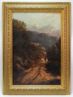 American Impressionist Cowboy Landscape Painting