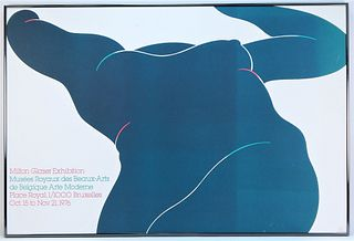 1976 Milton Glaser Belgian Exhibition Poster