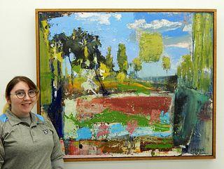 James Hobin Abstract Park Landscape Painting