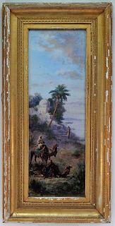Paul Pascal Orientalist Middle East Genre Painting