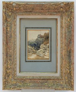 Walter Brookes Spong Landscape WC Painting