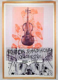 Robert Rauschenberg Boston Symphony Lithograph