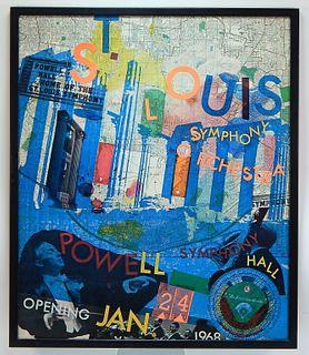 1968 Robert Rauschenberg St. Louis Symphony Poster