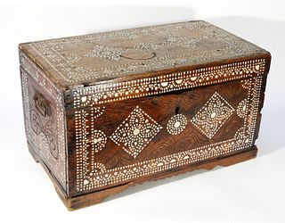 Anglo Indian MOP Inlay Wood Chest