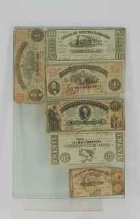6PC Virginia North Carolina Confederate Currency