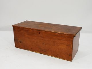 18C New England Pine Six Board Blanket Chest