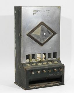 American Art Deco Cigarette Machine Dispenser