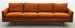Milo Baughman Thayer Coggin Walnut Couch Sofa