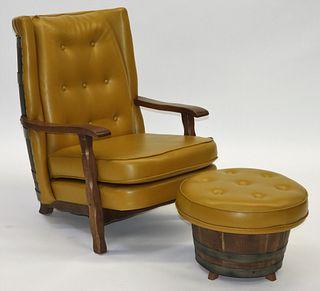 Schubert Industries MCM Barrel Chair and Ottoman