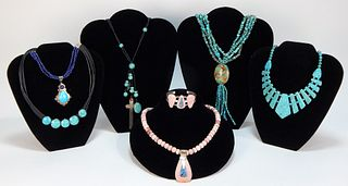 7PC Native American Style Turquoise Jewelry Group