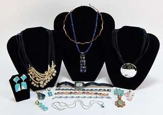 16PC Native American Style Turquoise Jewelry Group