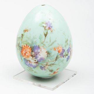 Russian Imperial Porcelain Green Ground Easter Egg