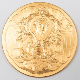 French Medallion Commerating The Hôtel des Monnaies, Paris, 1974