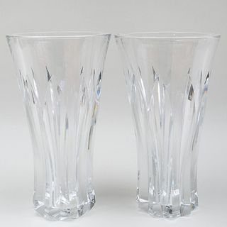 Pair of Large Bacarrat Glass Vases
