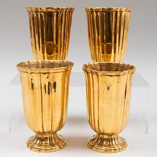 Set of Four French Gilt-Metal Vases