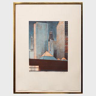Richard Haas (b. 1936): Cityscape