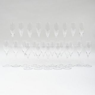 Group of Twenty-Two Baccarat Champagne Flutes