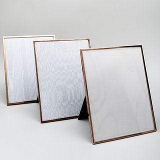 Three Large Jean Dinh Van Paris Silver-Gilt Picture Frames