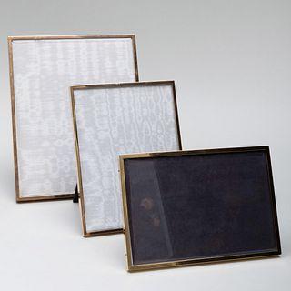 Three Pasque Paris Silver-Gilt Picture Frames