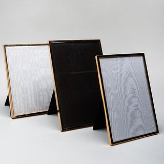 Jean Dinh Van French Silver-Gilt Picture Frame and Two Pasque Paris Silver-Gilt Picture Frames