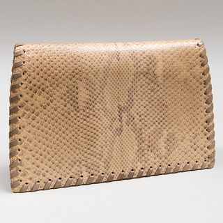 Yves Saint Laurent Textured Leather Clutch
