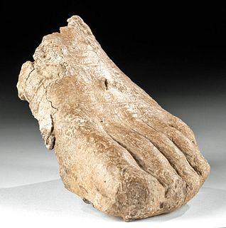 Roman Lead Left Foot - Lifesize Form