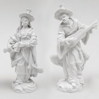 Two Meissen Porcelain Companion Figures of Malabar Musicians