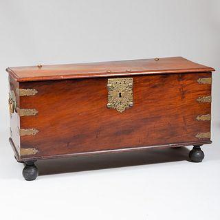 Spanish Colonial Brass-Mounted Cedar Traveling Trunk