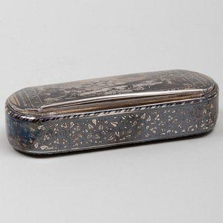 Swedish Silver-Gilt and Niello Snuff Box