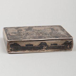 Russian Silver and Niello Snuff Box